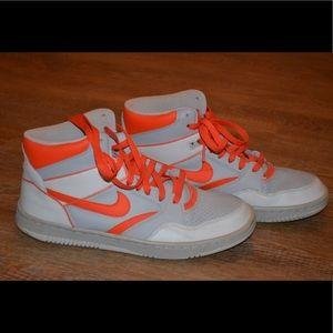 Nike Sky Force Orange Grey Men's Basketball Sz 10